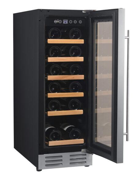 Climadiff-wijnkoelkast-inbouw-onder-werkblad-met-glazen-deur-1-zone-CLE18-18-flessen-ean-3595320102932