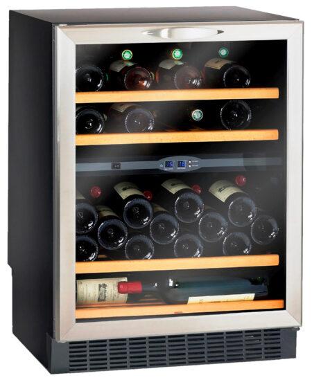 Climadiff-wijnkoelkast-inbouw-onder-werkblad-met-glazen-deur-2-zones-CV521XDZ-50-flessen-ean-3595320717099