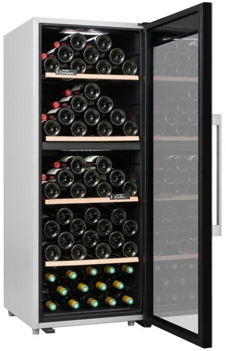 Climadiff-wijnkoelkast-wijnserveerkast-met-glazen-deur-CLS110MT-110-flessen-2-zones-multi-temperatuur-ean-3595320105728