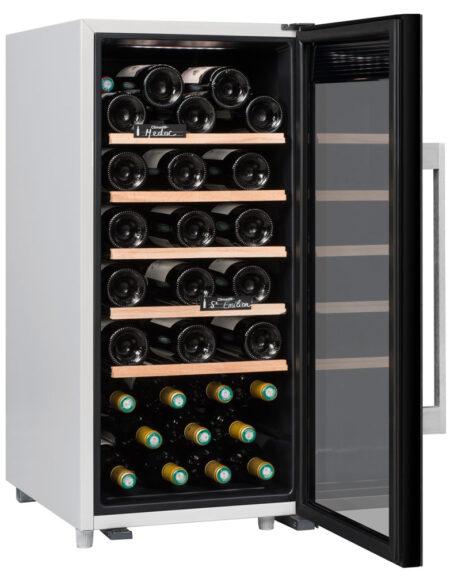 Climadiff-wijnkoelkast-wijnserveerkast-met-glazen-deur-CLS41-41-flessen-multi-temperatuur-ean-3595320105766