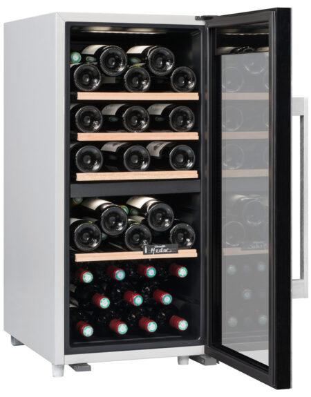 Climadiff-wijnkoelkast-wijnserveerkast-met-glazen-deur-CLS41MT-41-flessen-2-zones-multi-temperatuur-ean-3595320105759