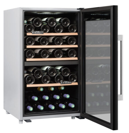 Climadiff-wijnkoelkast-wijnserveerkast-met-glazen-deur-CLS56MT-56-flessen-2-zones-multi-temperatuur-ean-3595320105735