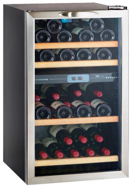 Climadiff-wijnkoelkast-wijnserveerkast-met-glazen-deur-CV41DZX-35-flessen-2-zones-multi-temperatuur-ean-3595320717105