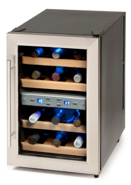 Domo-wijnkoelkast-DO909WK-12-flessen-peltier-met-glazen-deur-2-zones-EAN-5411397013255_1