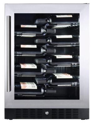 Temptech Copenhagen inbouw of vrijstaande wijnklimaatkast 1 zone 38 flessen CDBU60DXL ean 7090013677453