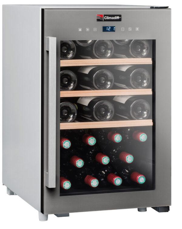 Climadiff-wijnkoelkast-wijnserveerkast-met-glazen-deur-CLS31-31-flessen-multi-temperatuur-ean-3595320105773_1